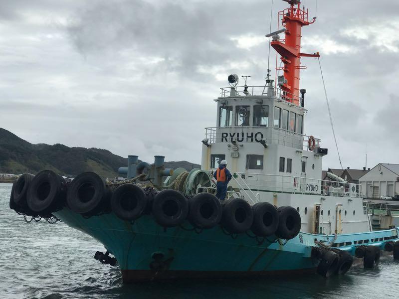 留萌港のタグボート
